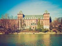 Retro look Castello del Valentino, Turin, Italy Royalty Free Stock Image