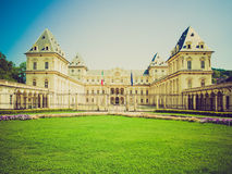 Retro look Castello del Valentino, Turin Royalty Free Stock Photography