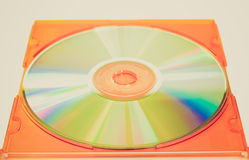 Retro look Cd picture Royalty Free Stock Photo