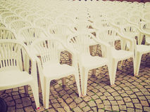 Retro look Chairs Royalty Free Stock Images