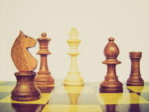 Retro look Chess checkmate Royalty Free Stock Images