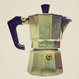Retro look Coffee percolator. Vintage looking Coffee percolator picture Royalty Free Stock Photo