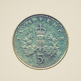 Retro look Coin isolated Royalty Free Stock Photography