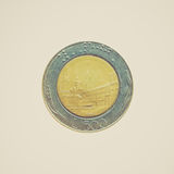 Retro look Coin isolated Royalty Free Stock Image