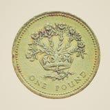 Retro look Coin isolated Stock Photo