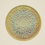 Retro look Coin isolated Stock Photography