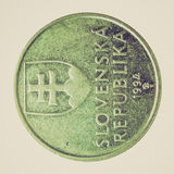 Retro look Coin picture Royalty Free Stock Images