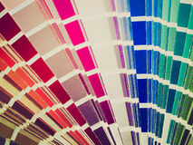 Retro look Color table Stock Photography