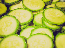 Retro look Courgettes zucchini Stock Photo