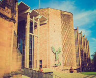 Retro look Coventry Cathedral Royalty Free Stock Images