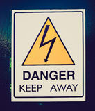 Retro look Danger keep away Royalty Free Stock Photo