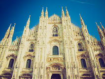 Retro look Duomo di Milano Royalty Free Stock Photo