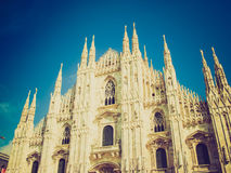 Retro look Duomo di Milano Royalty Free Stock Image