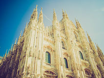 Retro look Duomo di Milano Stock Photos