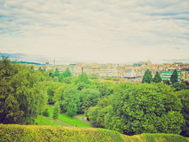 Retro look Edinburgh Royalty Free Stock Photos