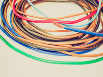 Retro look Electric wire Stock Images