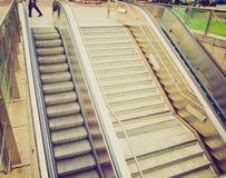 Retro look Escalator Stock Photo