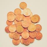 Retro look Euro coins Stock Photo