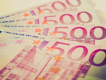 Retro look Euro note Royalty Free Stock Images