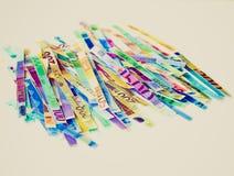 Retro look Euro note Stock Images