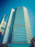 Retro look European Central Bank in Frankfurt Stock Photo