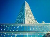 Retro look European Central Bank in Frankfurt Royalty Free Stock Photos