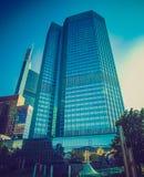 Retro look European Central Bank in Frankfurt Royalty Free Stock Image