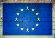 Retro look European flag Royalty Free Stock Image
