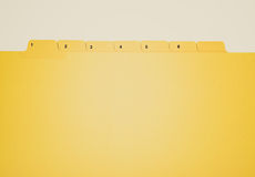 Retro look File folder Stock Image