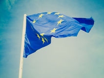 Retro look Flag of Europe Stock Photo