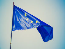 Retro look Flag of Europe Stock Photography