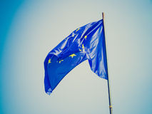 Retro look Flag of Europe Stock Image