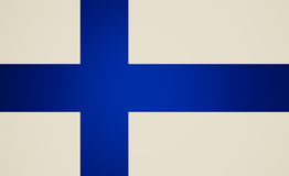 Retro look Flag of Finland Royalty Free Stock Photography