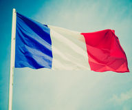 Retro look Flag of France Royalty Free Stock Image