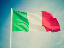 Retro look Flag of Italy Royalty Free Stock Photos