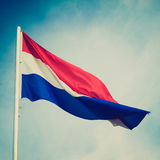 Retro look Flag of Luxembourg Royalty Free Stock Photography