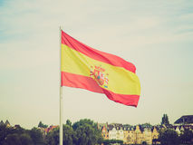 Retro look Flag of Spain Royalty Free Stock Images