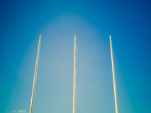 Retro look Flagpole Stock Images