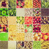 Retro look Food collage royalty free stock image