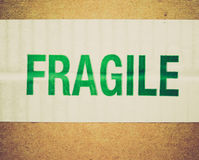 Retro look Fragile Royalty Free Stock Images