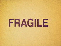 Retro look Fragile Stock Photos