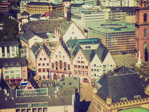 Retro look Frankfurt city hall Royalty Free Stock Photography