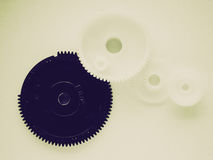 Retro look Gear picture Royalty Free Stock Image
