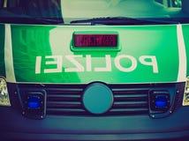 Retro look German police car Royalty Free Stock Photography