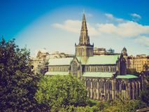 Retro look Glasgow cathedral Stock Images