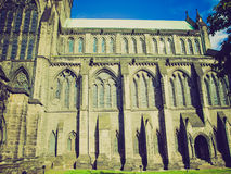 Retro look Glasgow cathedral Royalty Free Stock Images