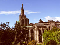 Retro look Glasgow cathedral Royalty Free Stock Image