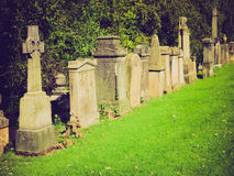 Retro look Glasgow cemetery Stock Images