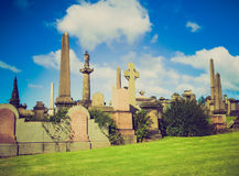 Retro look Glasgow necropolis Stock Photography