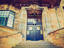 Retro look Glasgow School of Art. Vintage looking The Glasgow School of Art designed in 1896 by Scottish architect Charles Rennie Mackintosh, Glasgow, Scotland Stock Photography